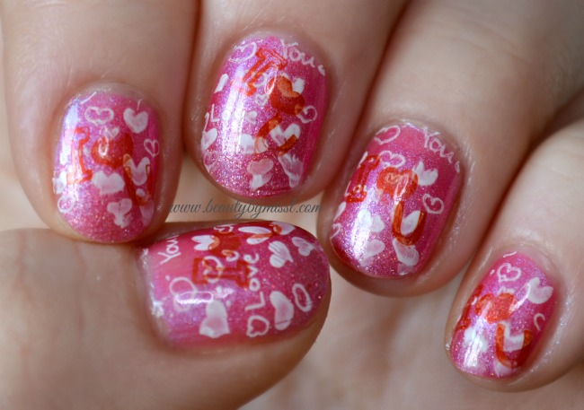 Happy Valentine´s Day manicure