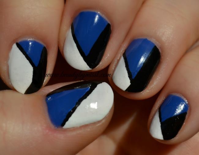 tri color nails