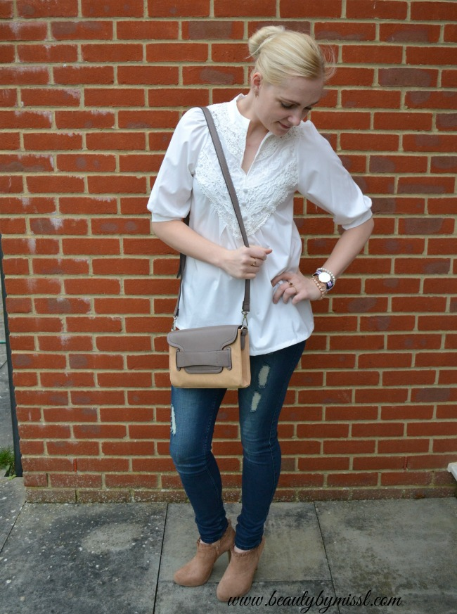 white blouse from Lookbook Store
