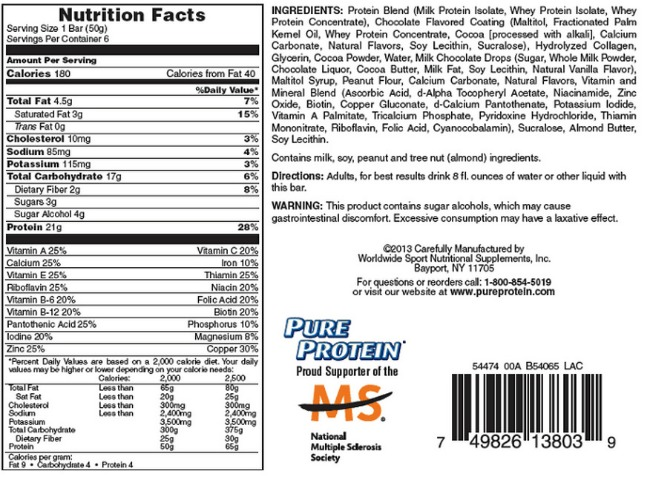 Pure Protein High Protein bar Chocolate Deluxe