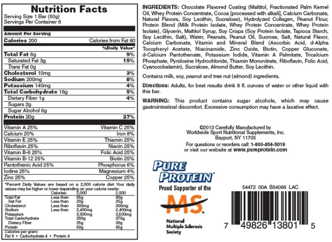 Pure Protein High Protein bar Chocolate Peanut Butter