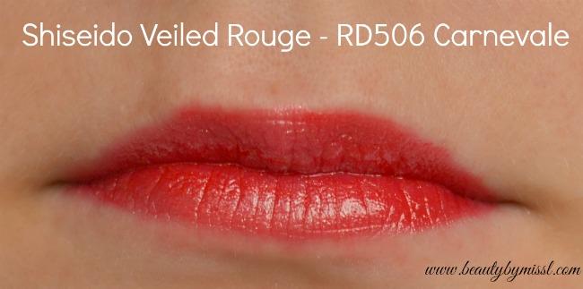 Shiseido Veiled Rouge RD506 Carnevale