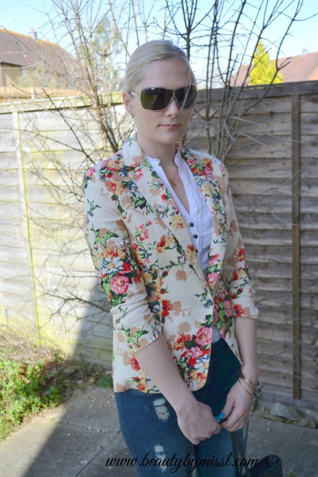 floral blazer from sheinside