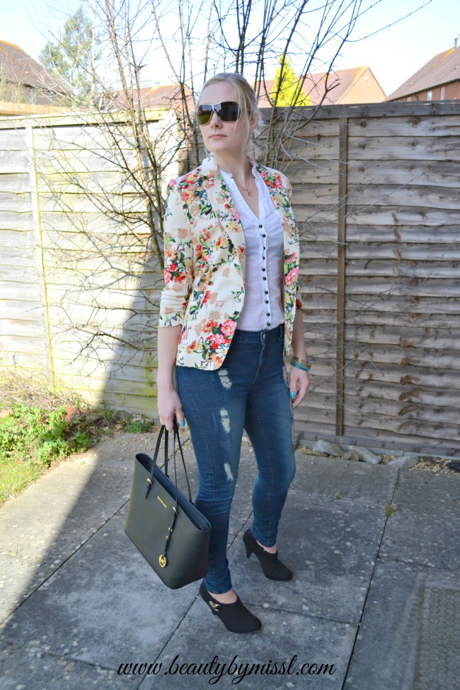 floral jacket from sheinside