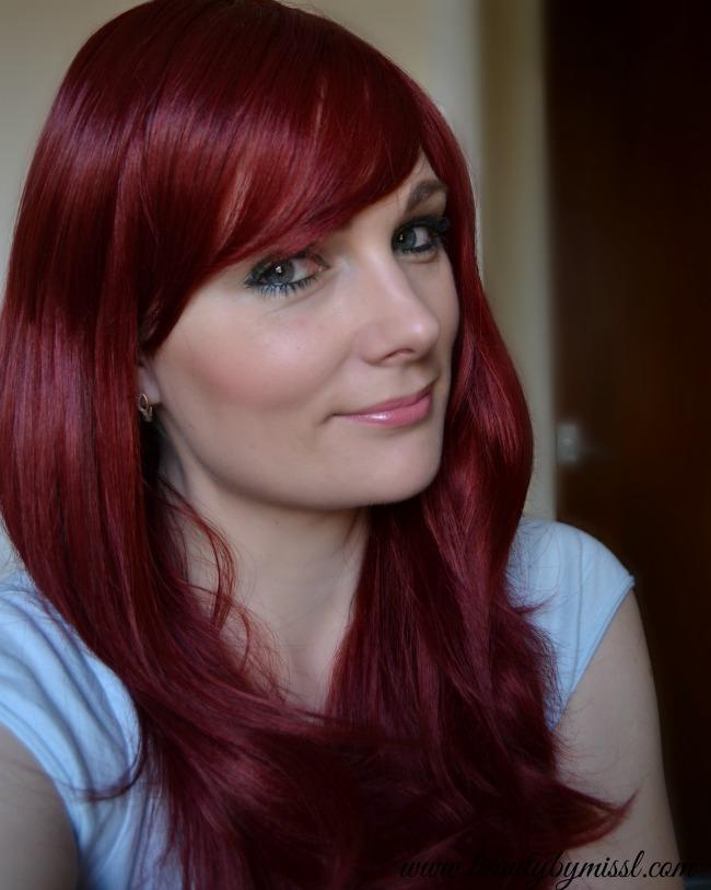 Burgundy Dolled Up wig