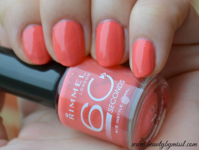 Rimmel 60 Seconds nail polish 415 Instyle Coral