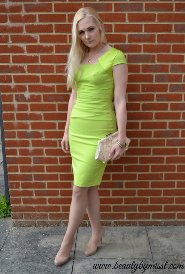 lime green Hybrid Chelsea Bodycon dress