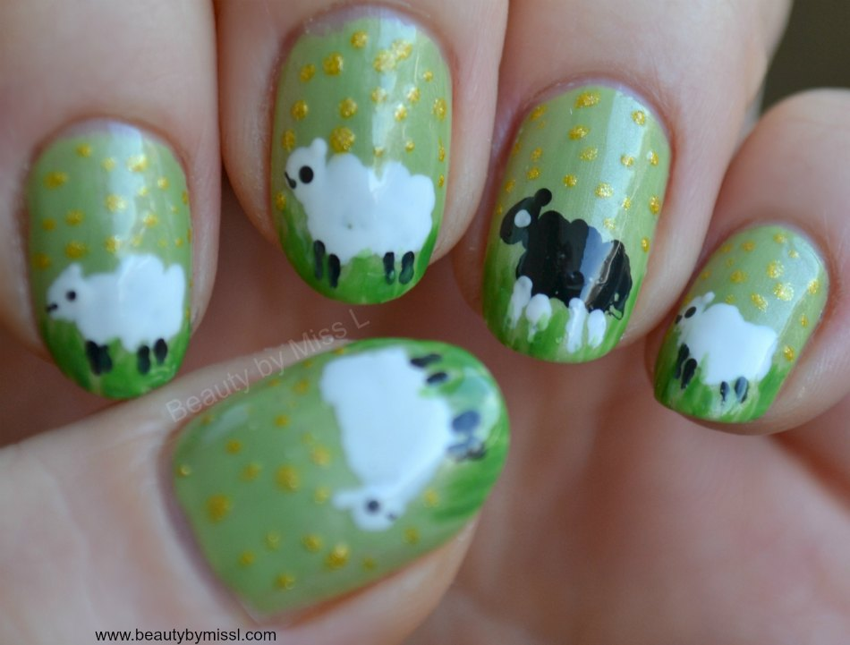 sheep nail art