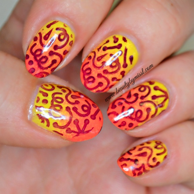 Ombre and stamping