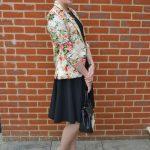 Black dress & floral blazer
