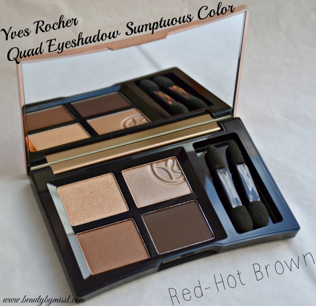 Yves Rocher Quad Eyeshadow palette - Red-Hot Brown