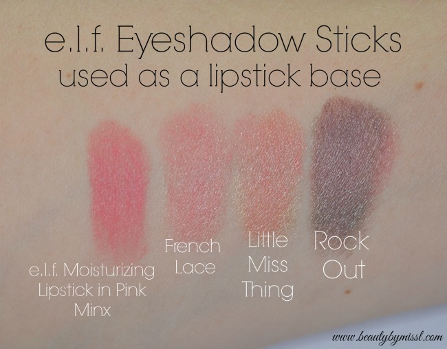elf Jumbo Eyeshadow Stick lipstick base