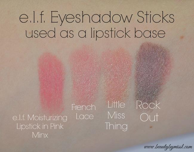 elf Jumbo Eyeshadow Stick lipstick base