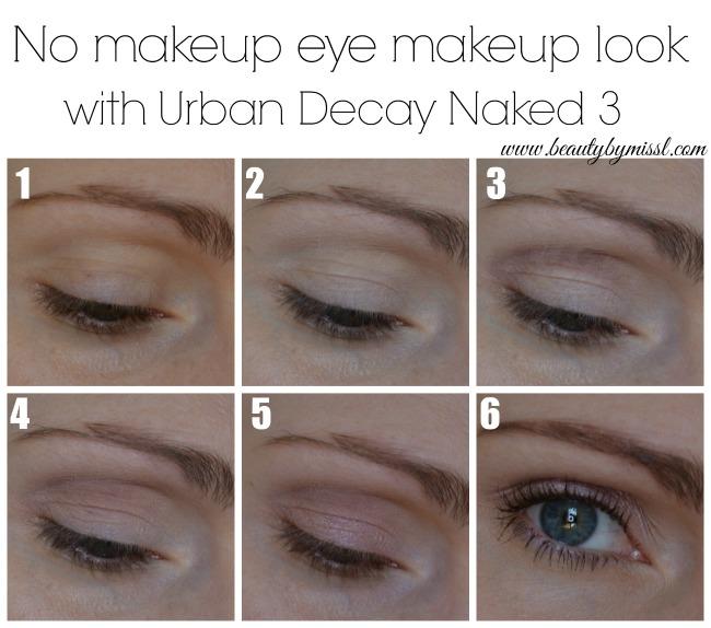 No makeup eye makeup look tutorial