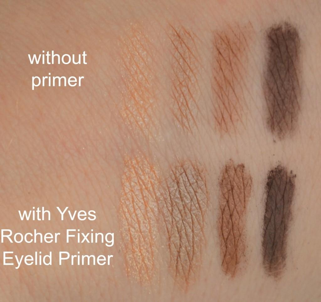 Yves Rocher Quad Eyeshadow palette swatches