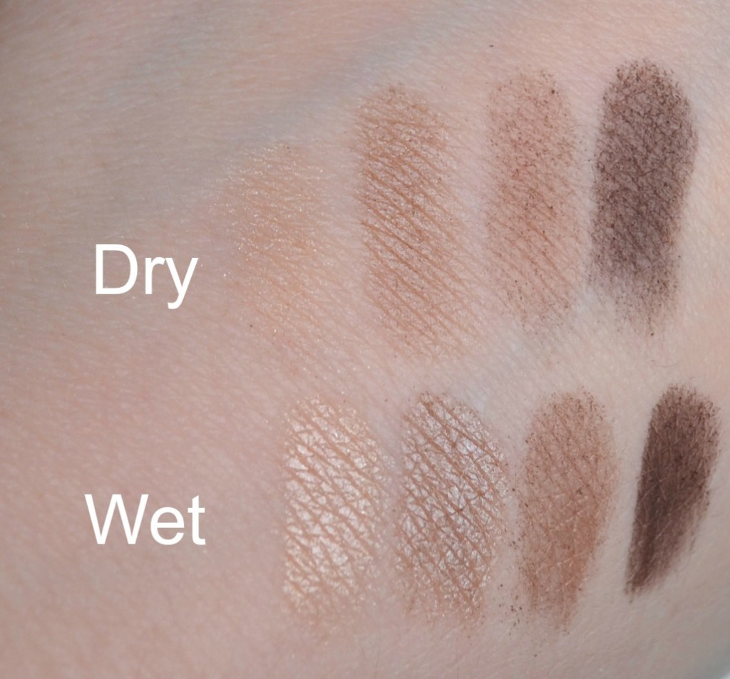 Yves Rocher Quad Eyeshadow palette swatches
