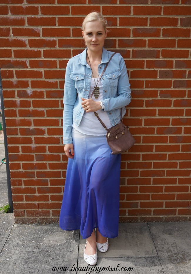 Ombre maxi skirt from RoseGal