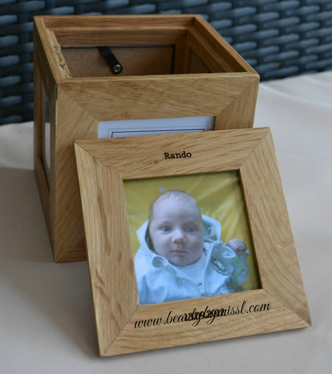 Perfect Father's Day Gift - Personalised Oak Photo Cube