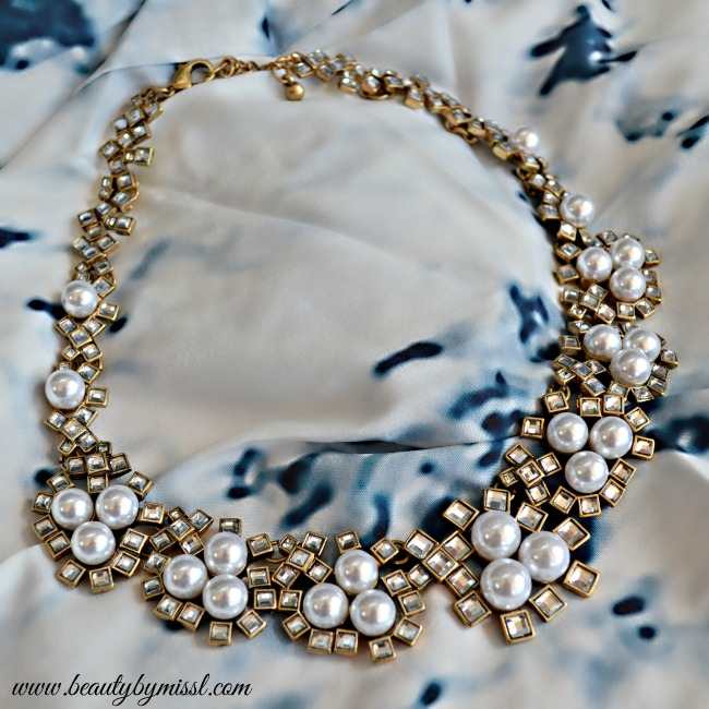 Beautiful Pearls Statement Necklace from Happiness Boutique