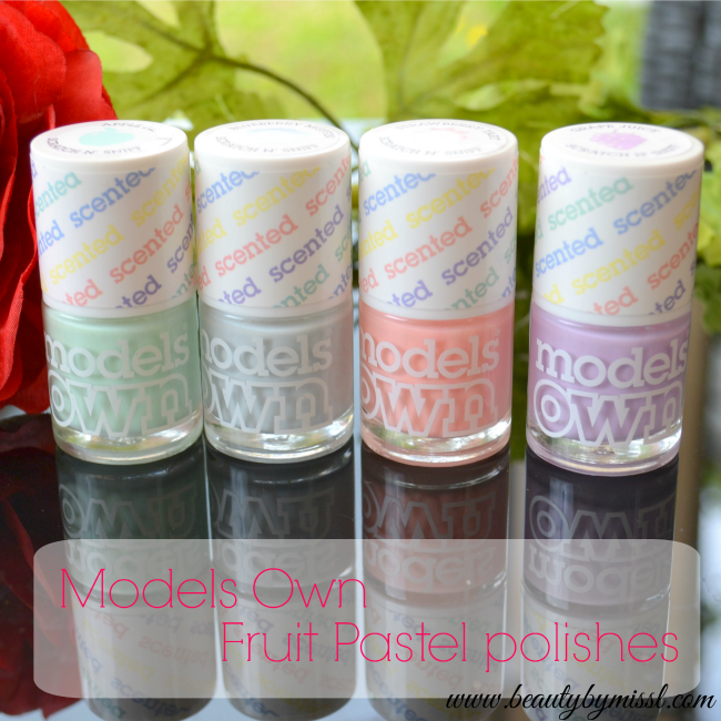 Models Own Fruit Pastels scented nail polishes
