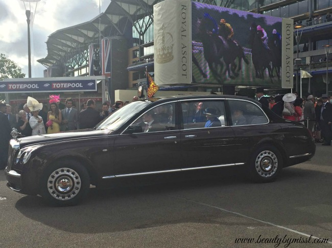 Queen Elizabeth II leaving Royal Ascot