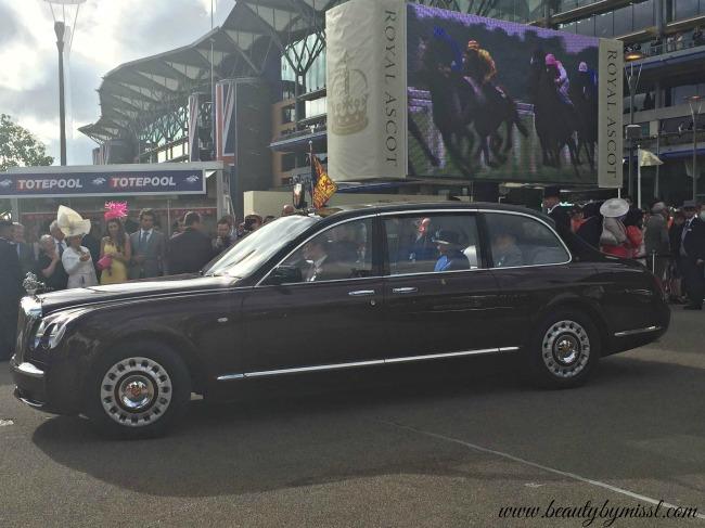 Queen Elizabeth II leaving Royal Ascot