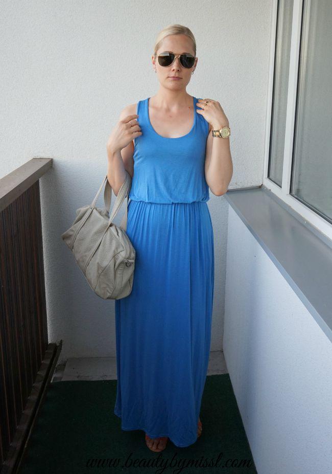 blue Boohoo maxi dress