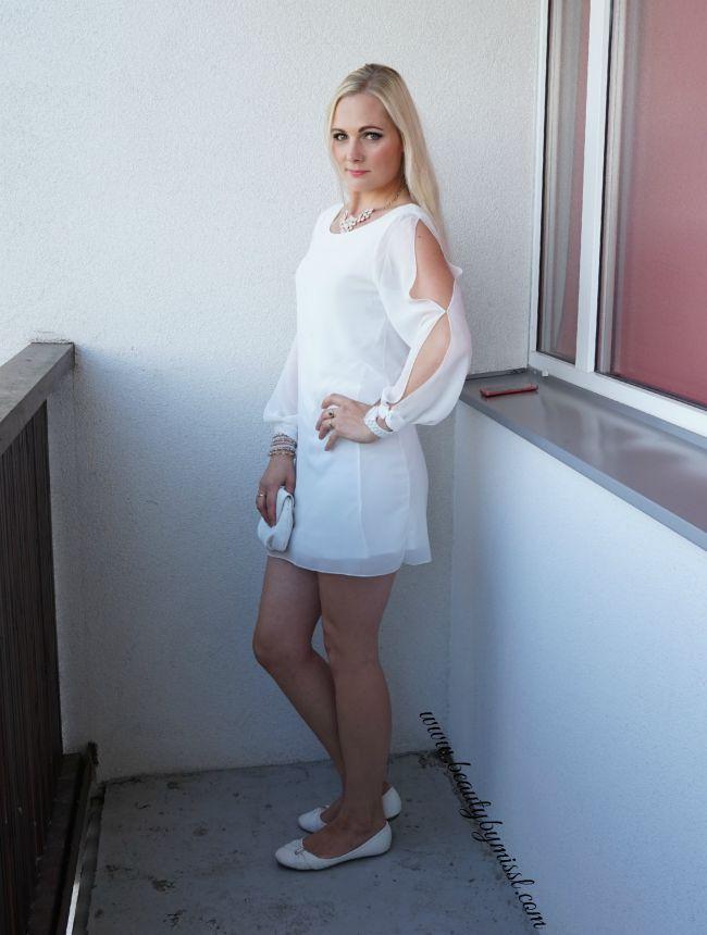 white mini dress outfit | www.beautybymissl.com