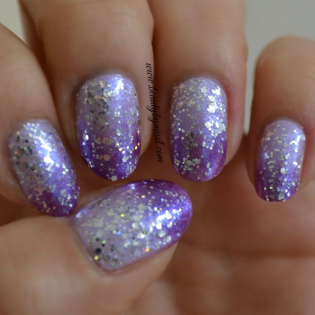 simple glittery purple ombre nails and a video tutorial | www.beautybymissl.com @beautybymissl