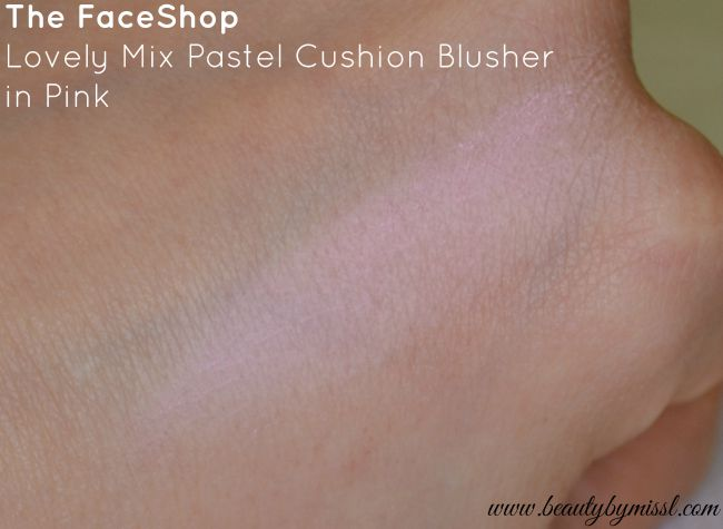 The Face Shop Lovely Mix Pastel Cushion Blusher 04 Pink Cushion swatch