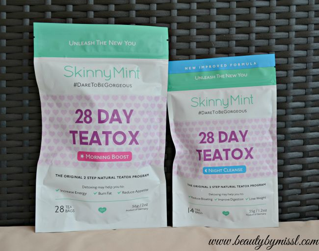 #DareToBeGorgeous with SkinnyMint TeaTox Teas