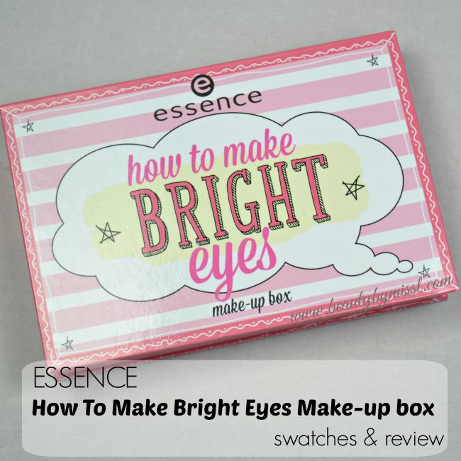 Essence How To Make Bright Eyes Make-Up Box swatches & review | www.beautybymissl.com @beautybymissl