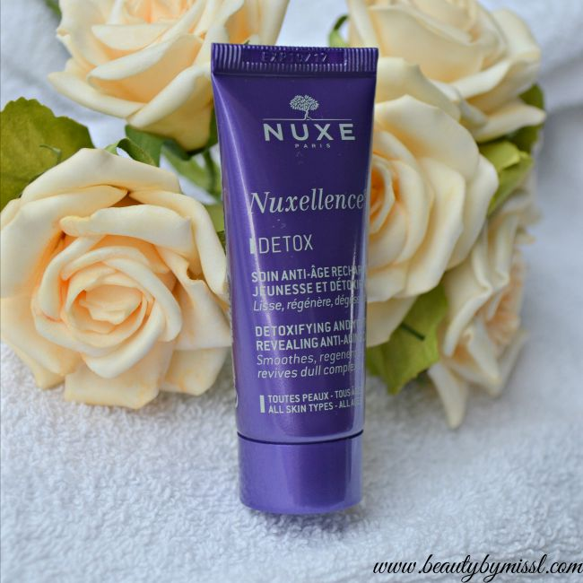 NUXE Nuxellence DETOX Detoxifying and Youth Revealing Anti-Aging Care review | www.beautybymissl.com