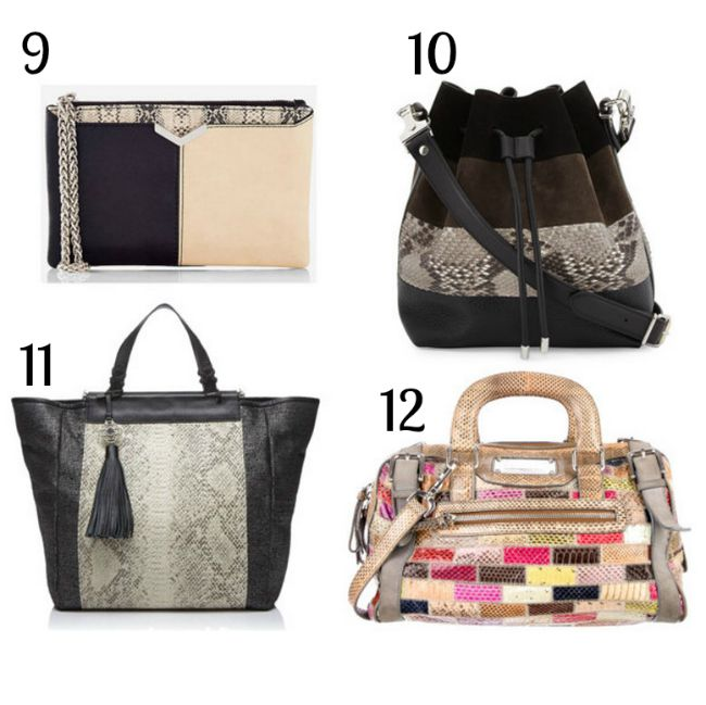Must have bags for fall 2015 - snakeskin bags | www.beautybymissl.com