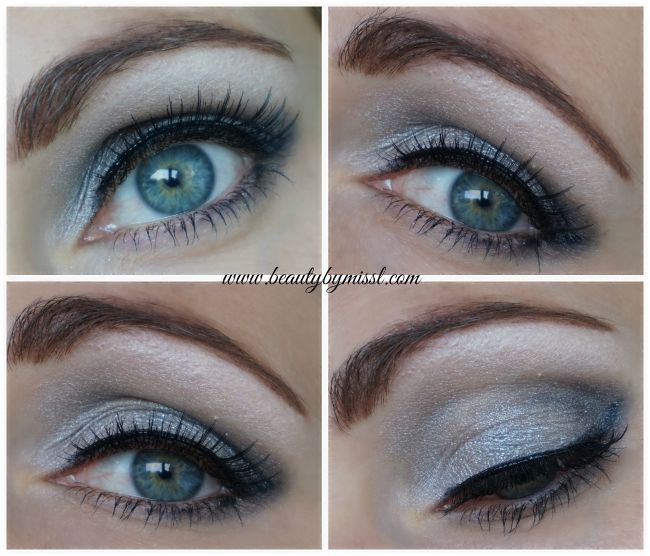 grey smoky eye with Essence How To Make Smokey Eyes makeup box | www.beautybymissl.com