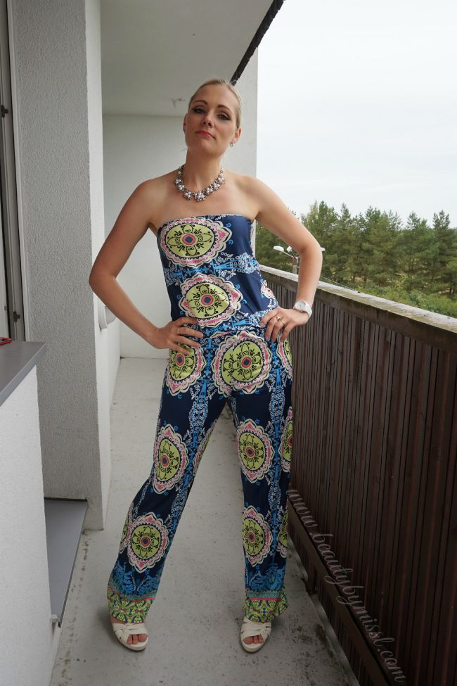 outfit post featuring Colorful SheIn jumpsuit   www.beautybymissl.com