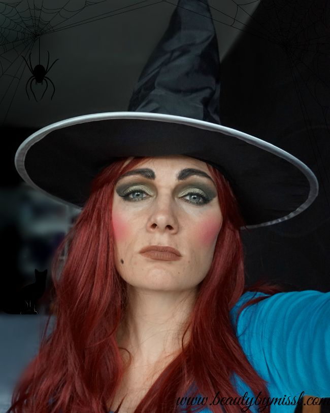 Halloween witch makeup