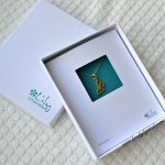delicate sterling Gold Butterfly Necklace from Lily Charmed