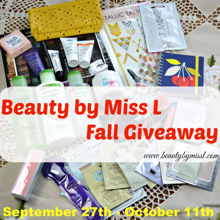 Beauty by Miss L Fall Giveaway