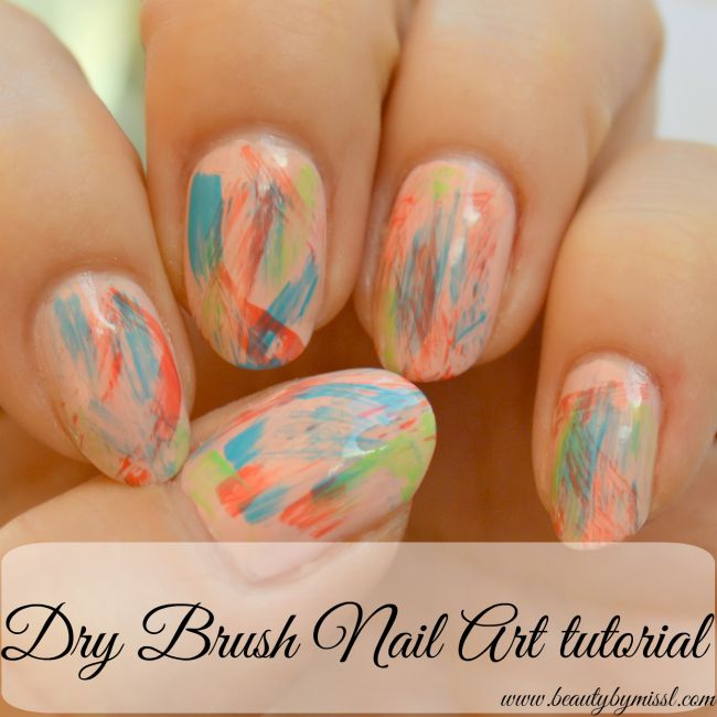 dry brush nail art tutorial | www.beautybymissl.com