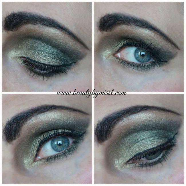 Halloween witch green eye makeup