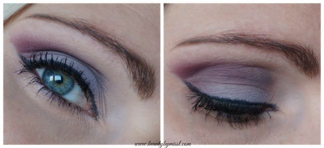 Purple eye eye makeup look wit Avon True Colour Eyeshadow Quad in Modern Romance