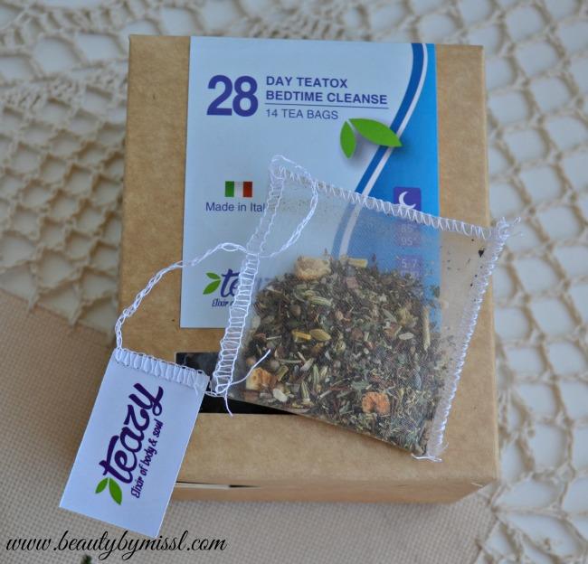 Teazy 28 Day Bedtime detox tea