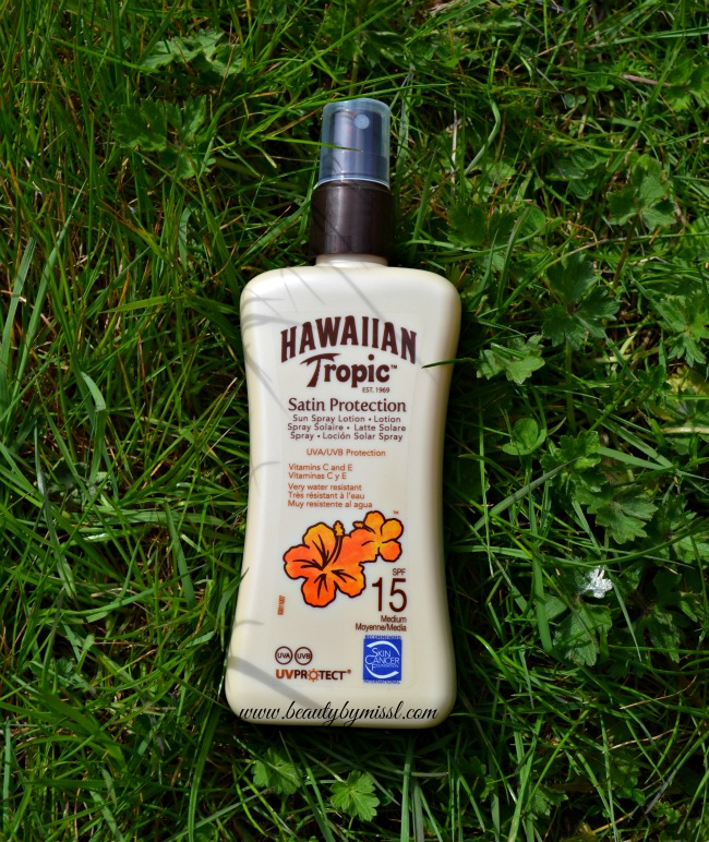 Hawaiian Tropic Satin Protection Sun Spray Lotion SPF 15 review