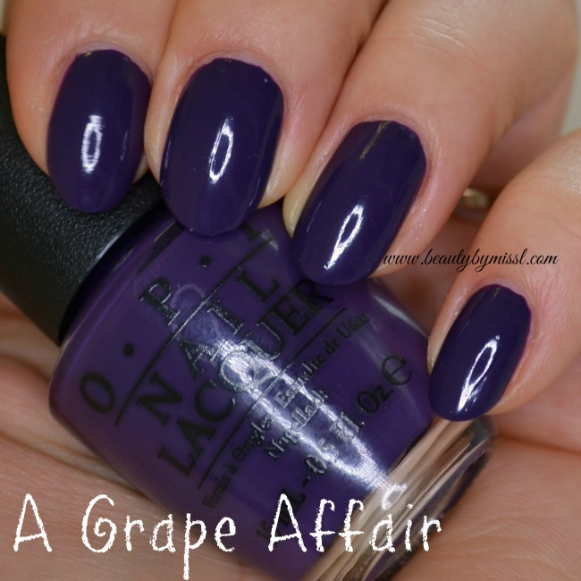 OPI A Grape Affair swatches