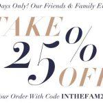 SHOPBOP Friends & Family SALE!