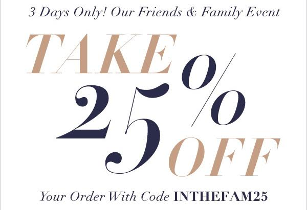 SHOPBOP Friends & Family SALE!