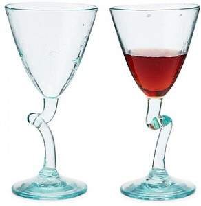 Twisted Wine Glasses