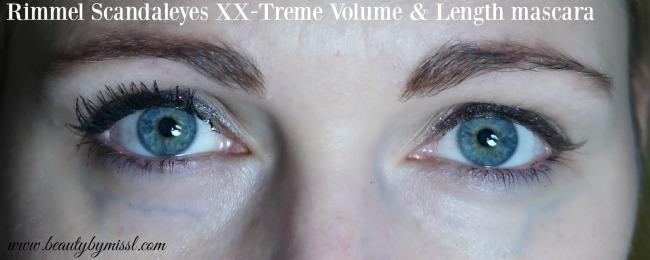 2 coats of Rimmel Scandaleyes XX-Treme Volume & Length mascara