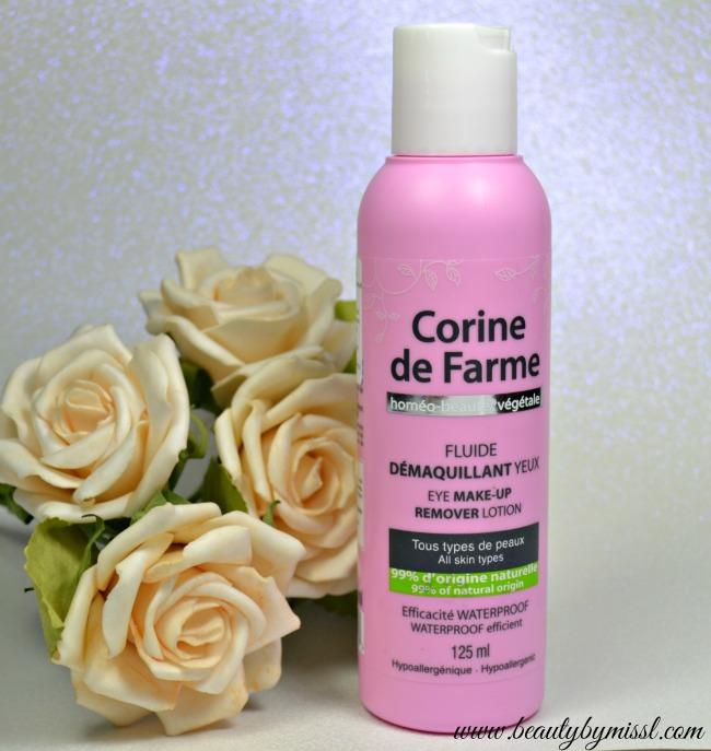 Corine de Farme Eye Makeup Remover Lotion review